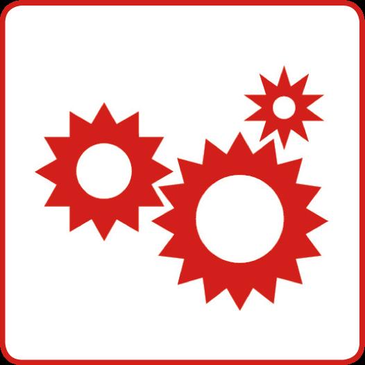 Symbol für den Gesundheitsziele-Bereich: Gemeinsam gesundheitsförderliche Lebens- und Arbeitsbedingungen schaffen