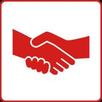 Symbol für das Gesundheitsziele Durch sozialen Zusammenhalt die Gesundheit stärken