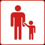 Symbol für den Gesundheitsziele-Bereich: Gesundes Aufwachsen für Kinder und Jugendliche bestmöglich gestalten