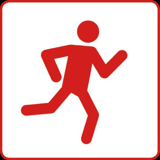 Symbol für den Gesundheitsziele-Bereich: Gesunde und sichere Bewegung im Alltag fördern