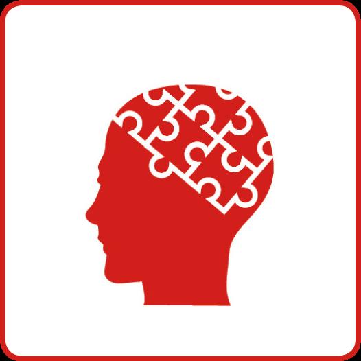 Symbol für den Gesundheitsziele-Bereich: Psychosoziale Gesundheit fördern