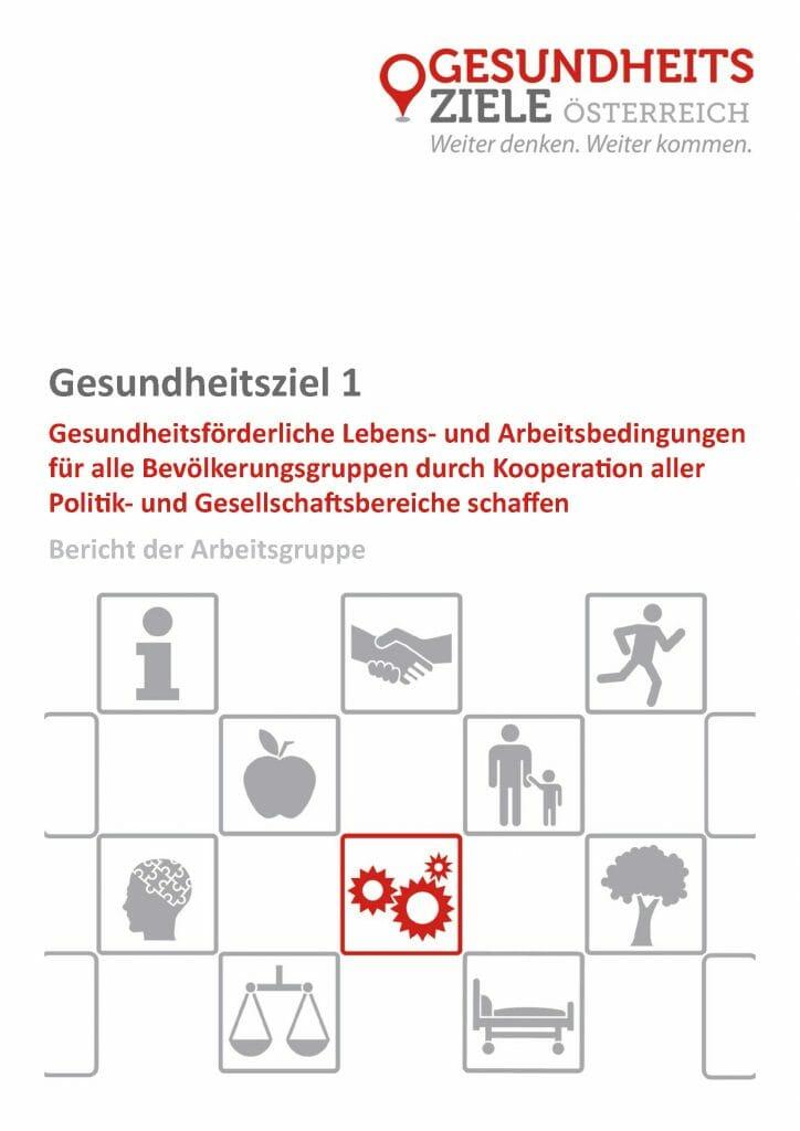 Bericht Arbeitsgruppe 1 Gesundheitsziele Oesterreich Seite 01