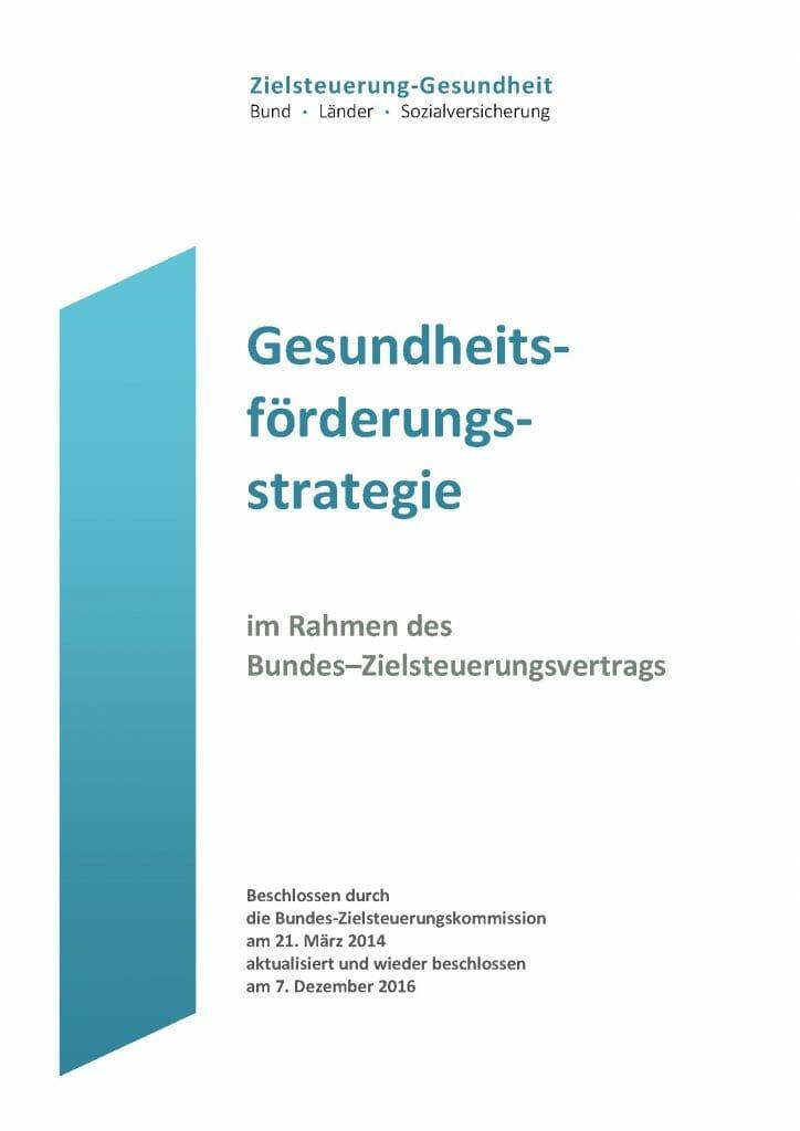 Gesundheitsfoerderungsstrategie Aktualisierung 2016