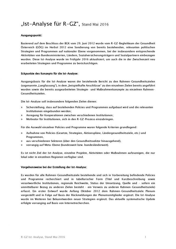 Ist Analyse Gesundheitsziele Oesterreich Stand Mai 2016 Seite 01