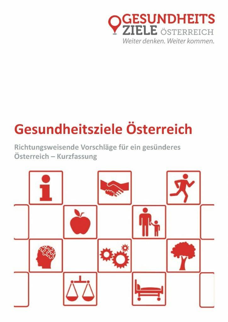Kurzfassung Deutsch Gesundheitsziele Oesterreich