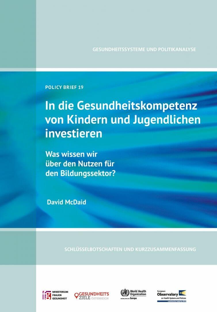 Policy Brief Deutsch Gesundheitsziele österreich