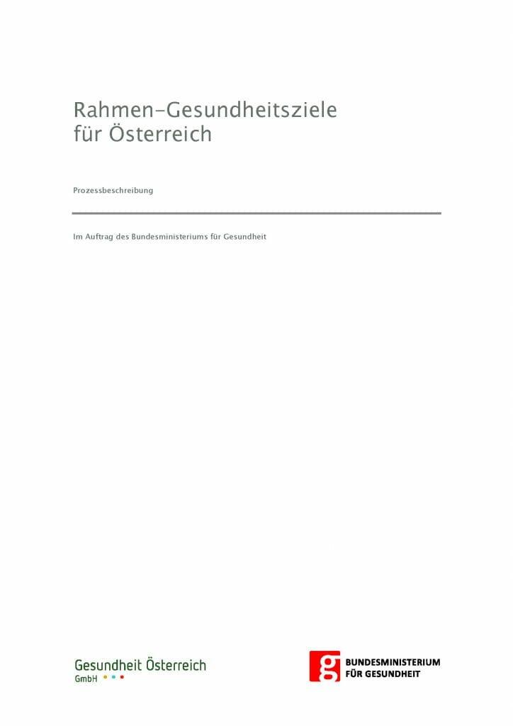 Prozessbeschreibung Gesundheitsziele Oesterreich Seite 01