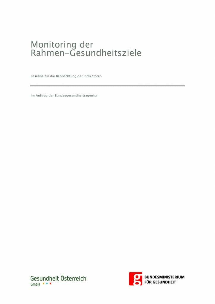Baseline Gesundheitsziele Oesterreich