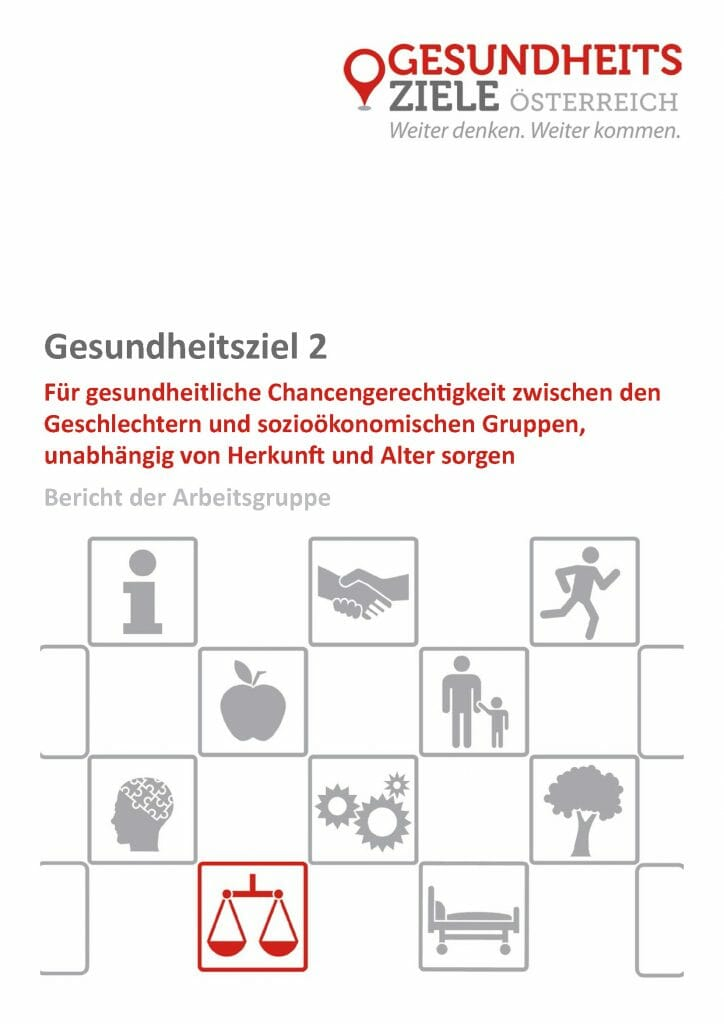 Bericht Arbeitsgruppe 2 Gesundheitsziele Oesterreich Seite 01