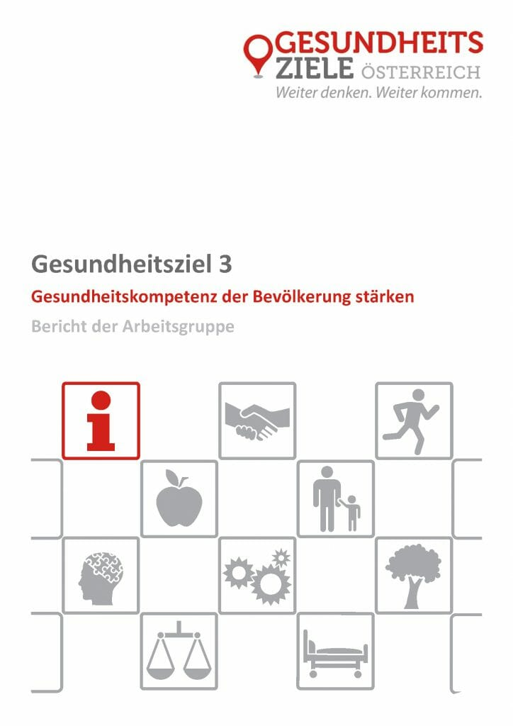 Bericht Arbeitsgruppe 3 Gesundheitsziele Oesterreich Seite 01
