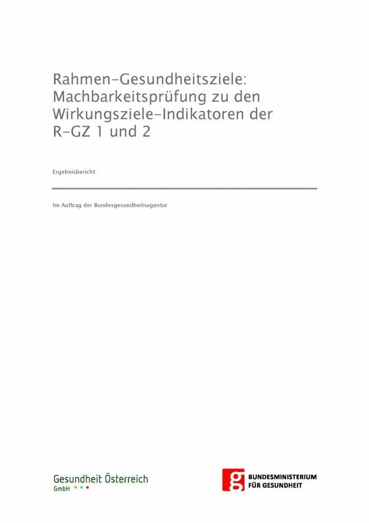 Machbarkeitspruefung Wirkungsindikatoren Ziel 1 2