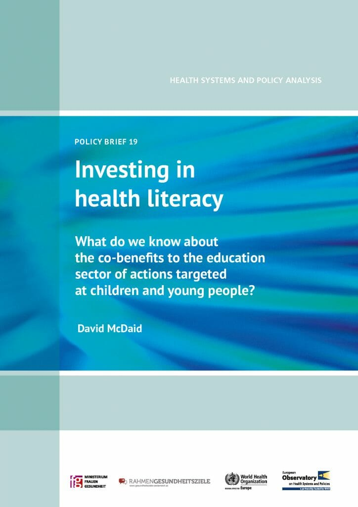 Policy Brief Investing Health Literacy Co Benefits To Education Sector