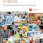 Cover der Broschüre Faire Gesundheitschancen im Betrieb. Paxisleitfaden für betriebliche Gesundheitsförderung.