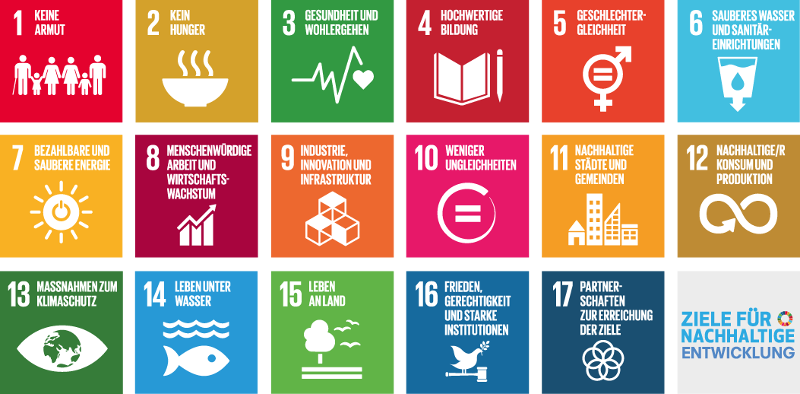 Die 17 SDGS / ©Vereinte Nationen