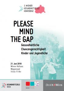 Programmcover der 3. Wiener Gesundheitsziele Konferenz / © MA 24 - Gesundheits- und Sozialplanung der Stadt Wien, Büro für Frauengesundheit und Gesundheitsziele