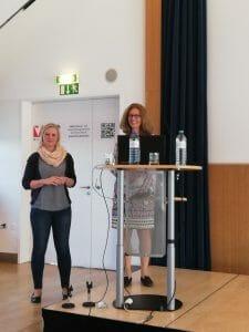 Aziza Haas (BMASGK) und Gabriele Antony (GÖG)