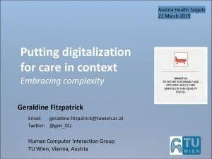 Presentation von Professor Geraldine Fitzpatrick