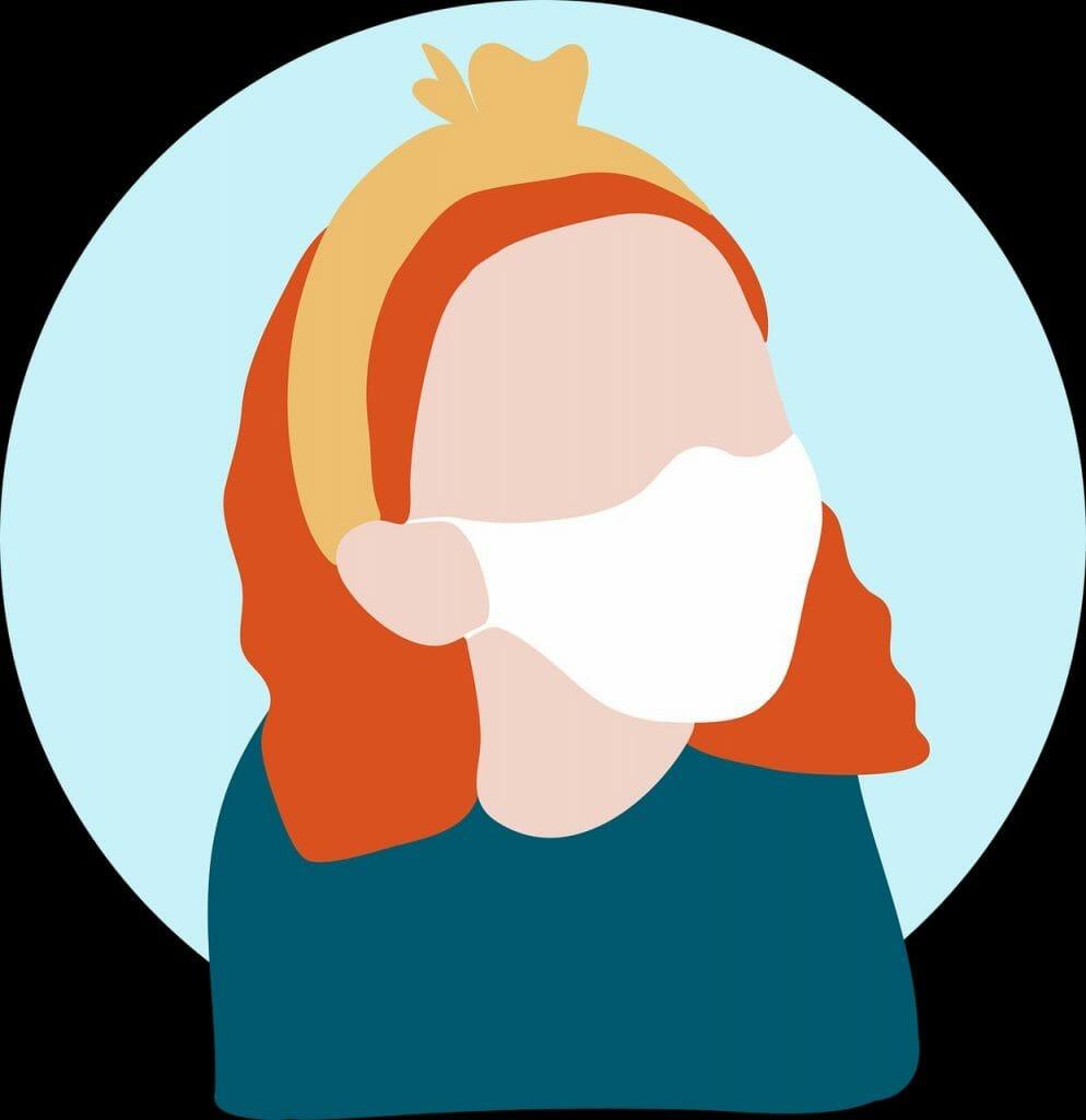 Frau mit Maske / copyright: pixabay