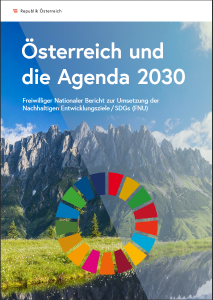 Cover des Freiwilligen Nationalen Berichts (FNU) zur Umsetzung der SDGs / copyright: bka