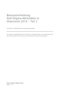Cover Bestandserhebung Anti-Stigma-Aktivitäten Teil 2